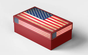 Gift box Vintage USA Flag Printed Galaxy background Gift boxes for her, for kids Christamas, valentine's day Gift box