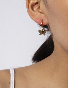 cute 3D butterfly dangle boho earrings set