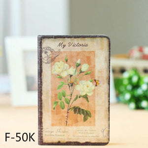 vintage flower pattern gift hardback notebook