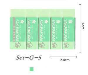 simple multi-function cuboid eraser set