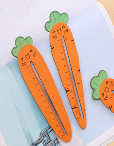 cute carrot shape 12cm wave ruler