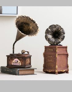 vintage gramophone model American style desktop decoration