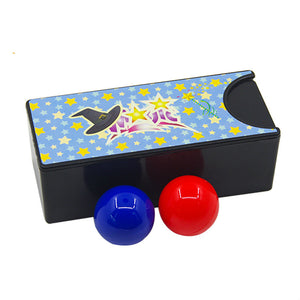 box turning the red ball into the blue ball close-up magic tricks changeable magie mystery box