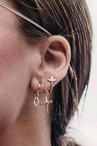 Chic Cross Eardrop Earrings Set