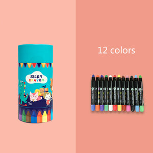 kids washable non-poisonous rotatable crayons