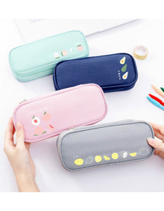 simple high capacity zipper students pencil case