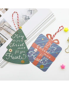 best wishes mini lanyard Christmas card
