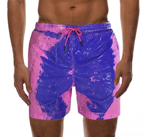 beach trunks change color in water men swimming shorts