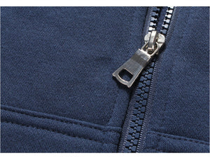 solid color loose casual brushed zipper coat