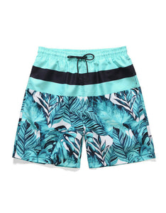 leaves printed beach loose men shorts