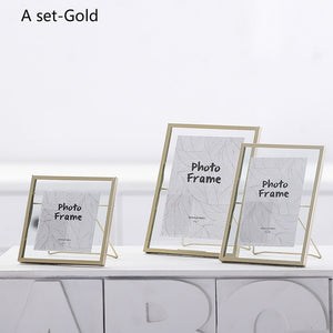 iron Nordic style 3 sizes photo frame desktop decoration