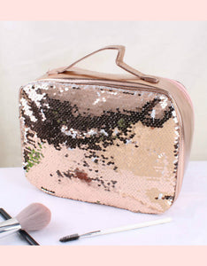 high capacity paillette handbag cosmetic bag
