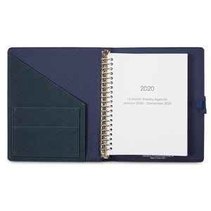 12 Month 2020 Agenda - Navy Blue - Inside Pocket