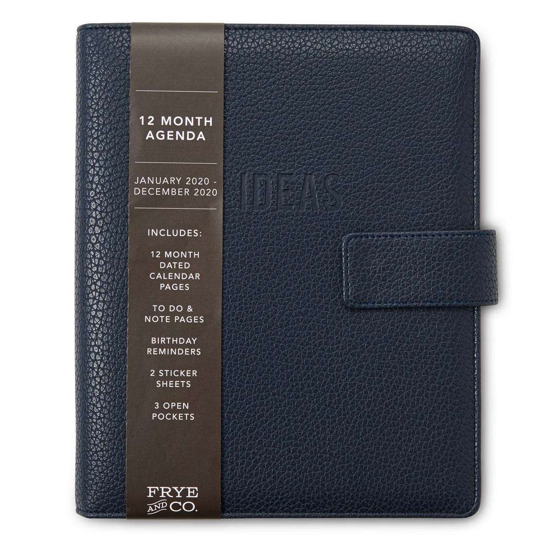 12 Month 2020 Agenda - Navy Blue - Cover