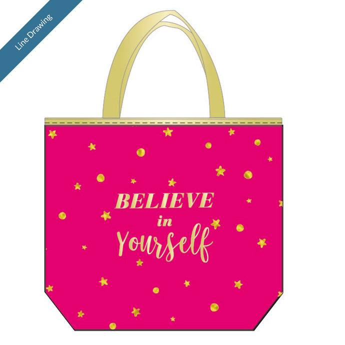 Insulated Lunch Tote - Believe In Yourself - Line Drawing