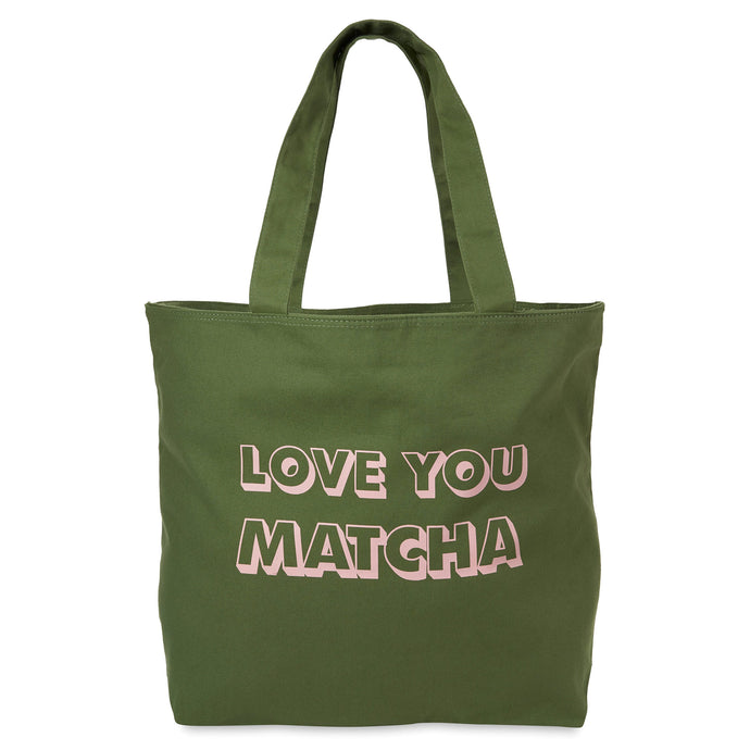 Cotton Tote - Love You Matcha