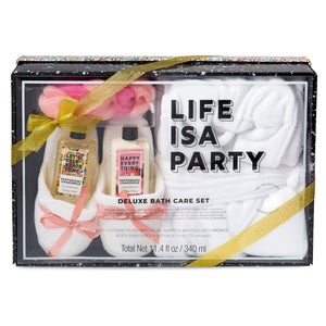 Deluxe Bath Set - Life Is A Party - Package