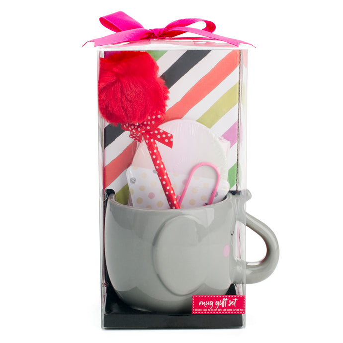 Circus Elephant Stationery Mug Gift Set