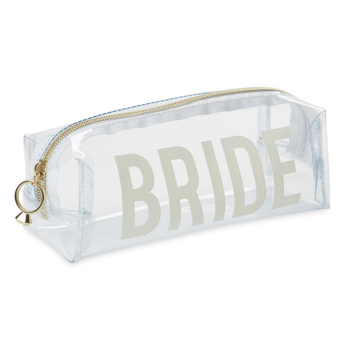 Cosmetic Bag - Bride - White Glitter