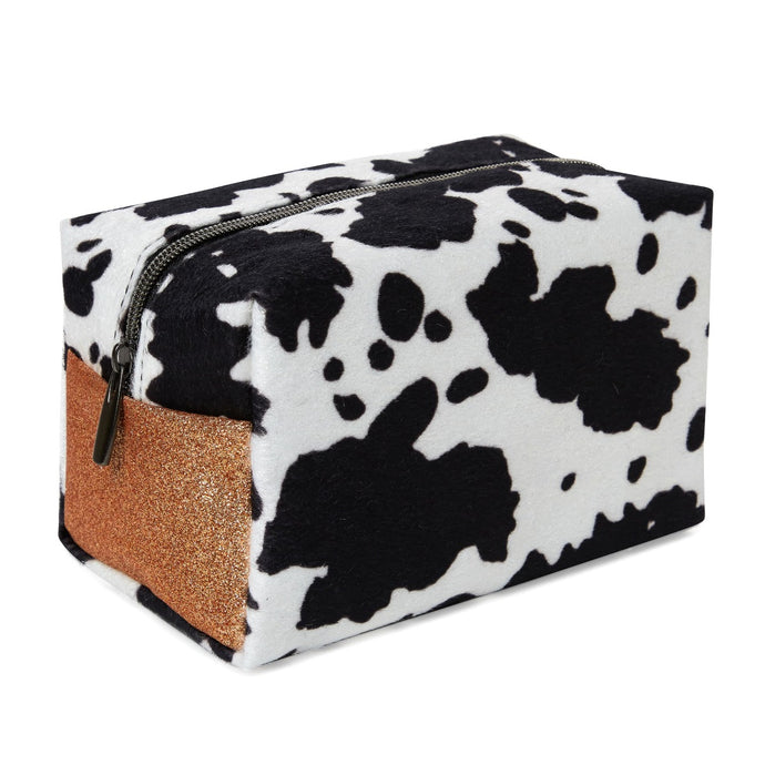 Cow Print Glitter Cosmetic Loaf