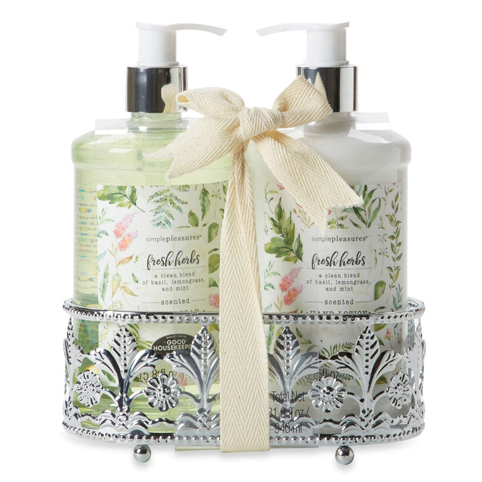Soap & Lotion Caddy - Fresh Herb Scented