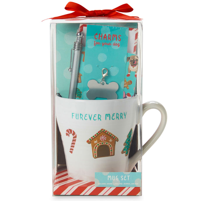 Furever Merry Dog Ceramic Mug Gift Set