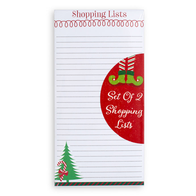 Holiday Whimsy Naughty Or Nice Set of  2 Shopping List Pads - Pad 1