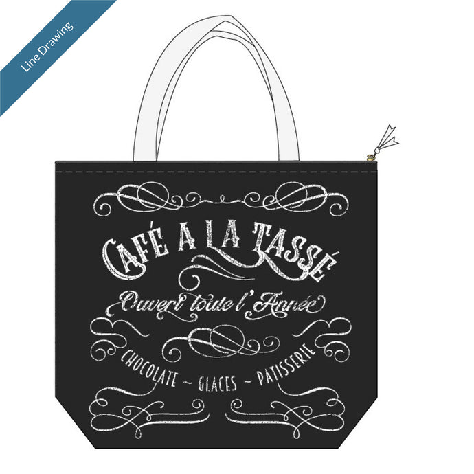 Insulated Lunch Tote Parisian - Line Drawing