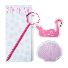 Load image into Gallery viewer, Let The Sea Set You Free Notepad Set - Detail