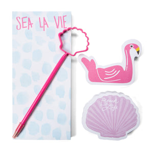 Let The Sea Set You Free Notepad Set - Detail
