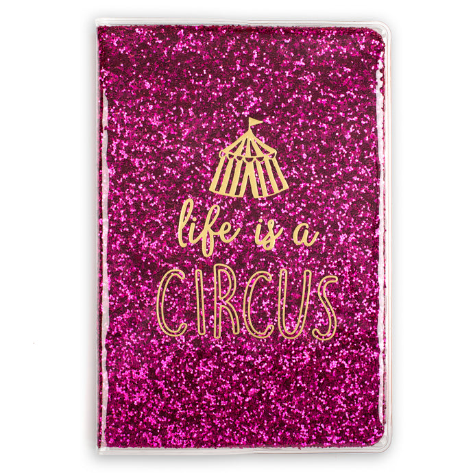 Life is A Circus Glitter Bound Journal
