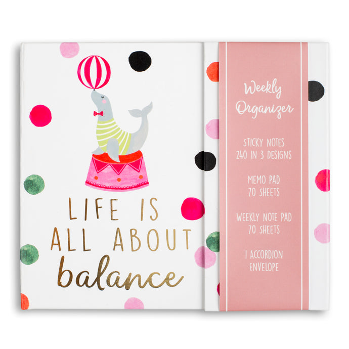 Life is All About Balance Weekly Organizer