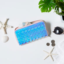 Load image into Gallery viewer, Mermaid Scales Zip Around Wallet - Lifestyle