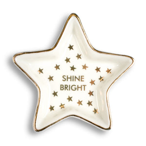 Shine Bright Star Ceramic Trinket Tray