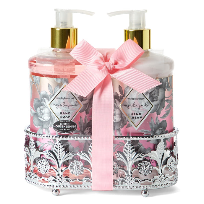 Soap & Lotion Caddy - Magnolia Peach Scented