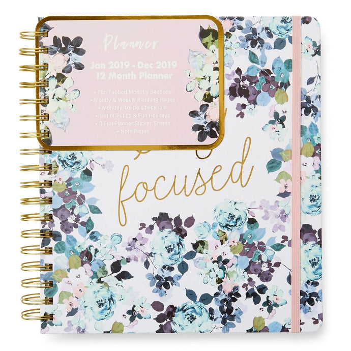12 Month Planner - Stay Focused 2019 Planner