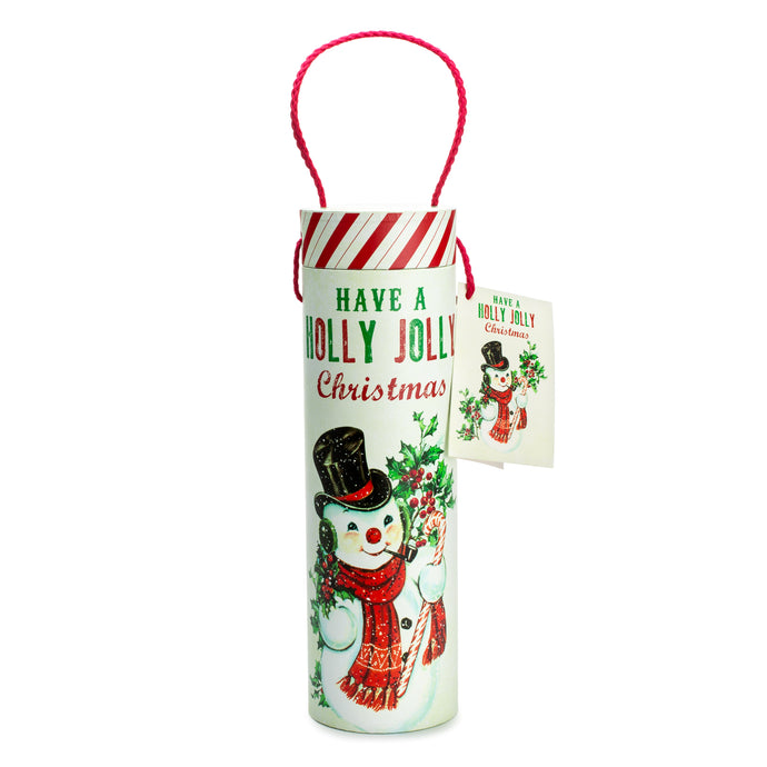 Vintage Christmas Wine Tube