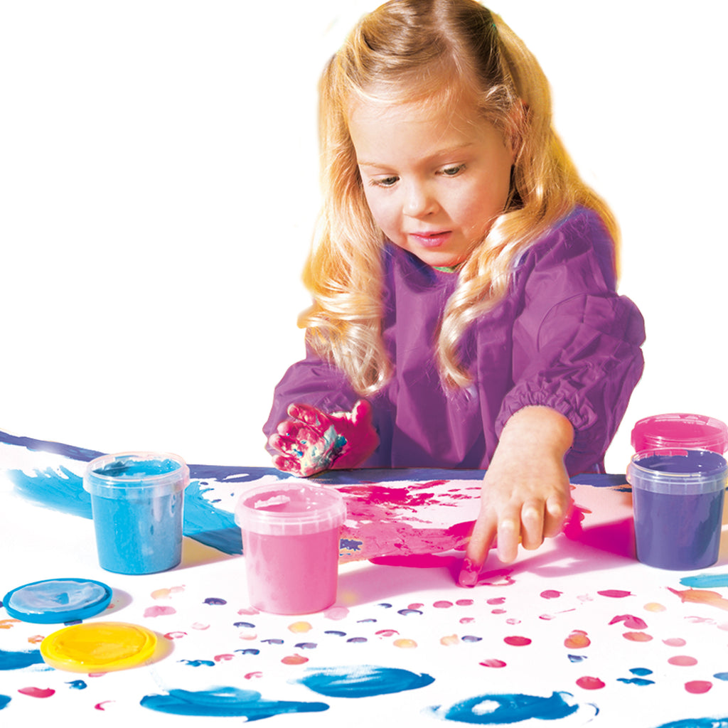 SES: 4 Pots of Finger Paints Modern Colours