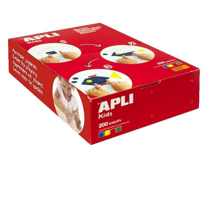 Apli: 19mm Circle/ 200 sheets/ 4 Col assorted-BAG