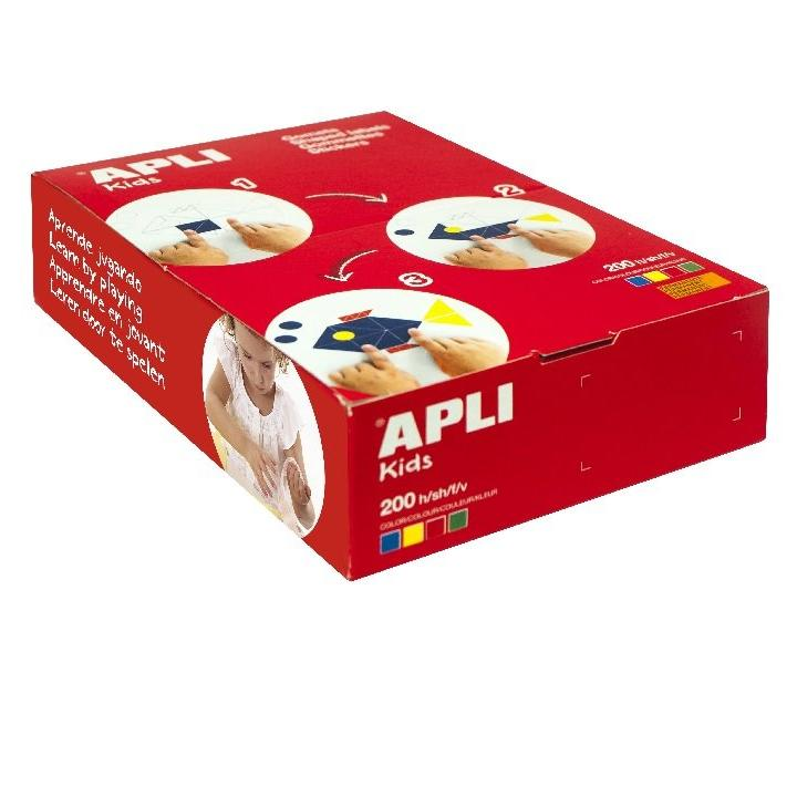 Apli: 14x8/24x12/35x24 rectangle/ 200 sheets/ 4 Col assorted