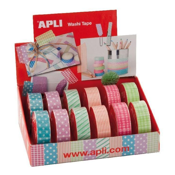 Apli: Washi Tape 15x10 Display Assort 12U