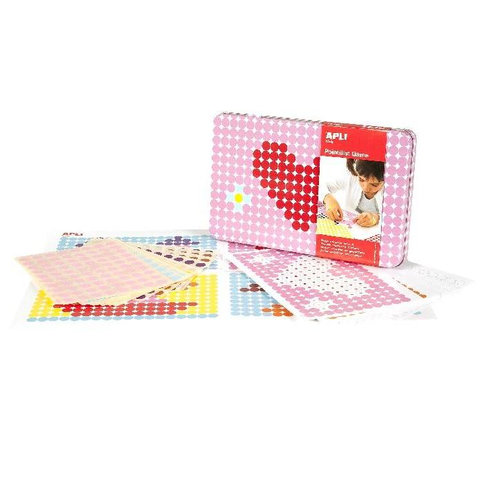 Apli: Tin Box Game Round Stickers Heart