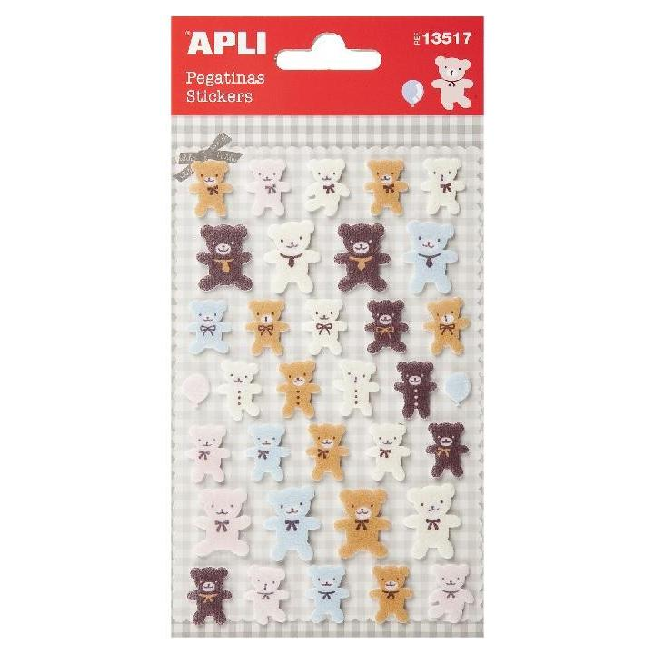Apli: B.Felt Stickers Teddy Bear 1SH