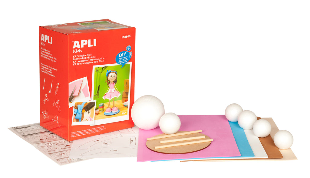 Apli: Foam Doll Kit Pink Dress Alice