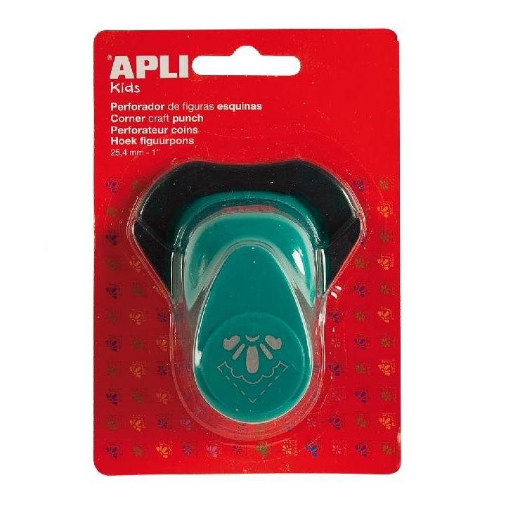 Apli: Paper Corner Punch 1/2 Flower TURQ25.4MM