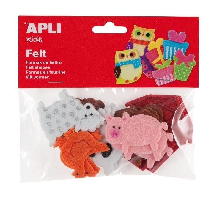 Apli: B.Felt Shapes Animals 18 PCS