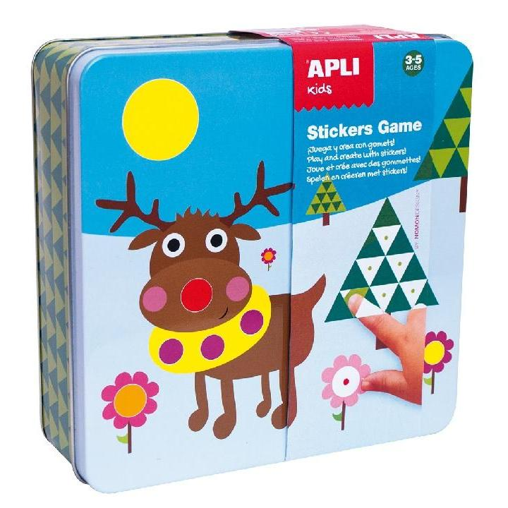 Apli: Tin Box Stickers Game Ice World
