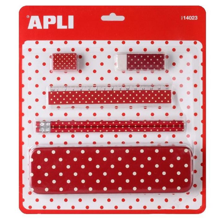 Apli: Pencil Set Red Moles