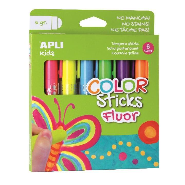 Apli: B.Color Stick Fluor Assor. Colours 6g 6U