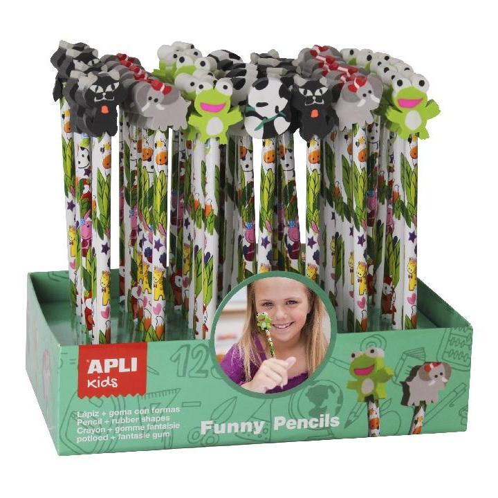 Apli: Pencil With Eraser Animals 1 pc.